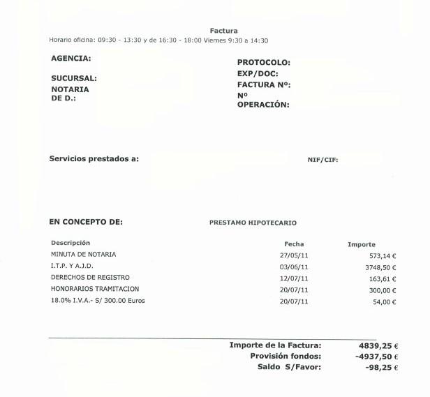 liquidación gastos hipoteca