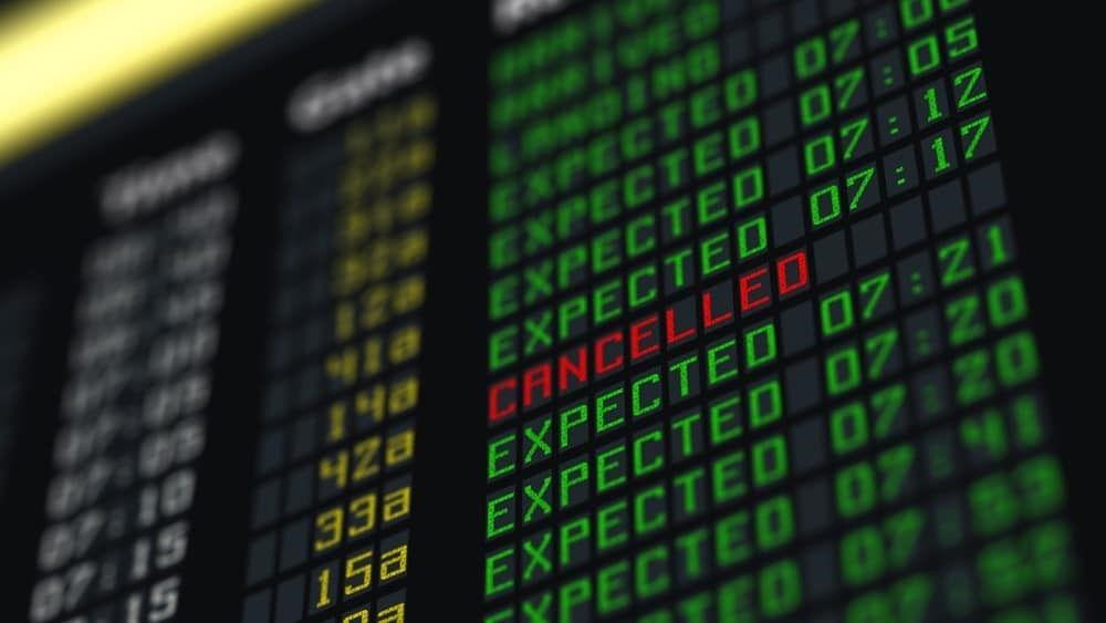 Cancelación de vuelo
